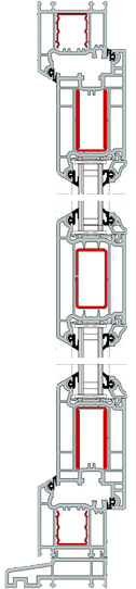Cross Section of uPVC Door