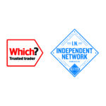 which trusted trader and independent network logos combined image